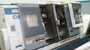 Used Mori Seiki Dl 20 Twin Spindle Turning Center Lathe Mf d6 Control Holders 96