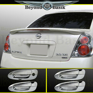For 2002 2006 Nissan Altima Factory Style Spoiler Chrome Door Handle Covers