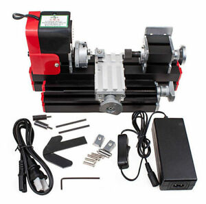 Miniature Multifunction Diy Cnc Metal Motorized Mini Lathe Machine 20000r min Us