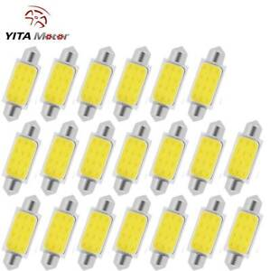 20x Super White 42mm Festoon Cob Led Dome Interior Light Bulb 578 569 579 211 2