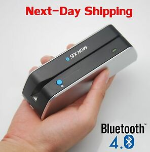 Msrx6bt Bluetooth Magnetic Stripe Swipe Credit Card Reader Writer Encoder Mag Tk