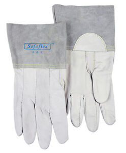 Weldas Tig Mig Welder Glove 11 Inch Grain Calfskin Leather Work Glove 2 Pairs