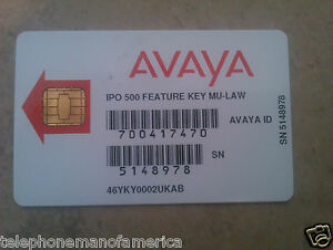 Avaya Ip Office 500 Feature Key Mulaw Smart Card 700417470 267786 205650 202960