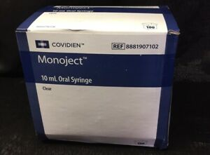 Covidien Monoject Oral Syringe Clear 10ml 100ct 088819071022a1221