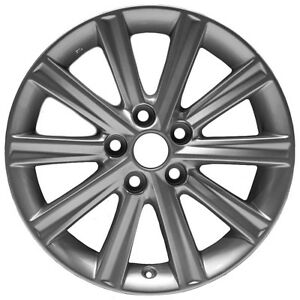 12 14 Toyota Camry 17 X 7 Inch 10 Spoke Silver Painted Alloy Wheel Oem Replica