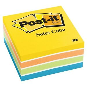 Lot Of 16 Pack 3m Post it Notes Cubes 3x3 Assorted Neon Ultra Colors ad