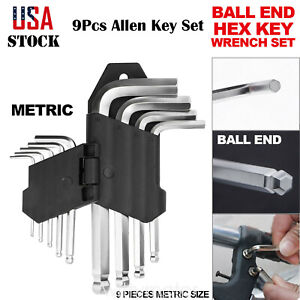 Hex Key Set Allen Wrench Socket Metric Ball End T Handle Tool Folded Screwdriver