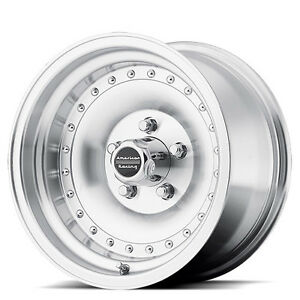 14 American Racing Ar61 Outlaw I Machined Clear Coat 14x7 Wheel Set 14inch