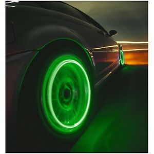 Led Green Lights Non Flash Tire Wheels Valve Stem Cap Motorcycle Car Bicycle