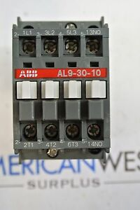 Al9 30 10 Abb Contactor 25 Amp 600 Volt With 24vdc Coil Tested