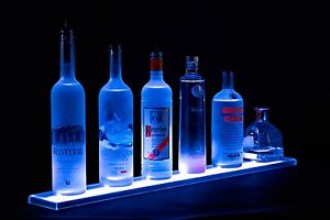 Used Armana Acrylic 2 Ft Led Lighted Liquor Bottle Shelf