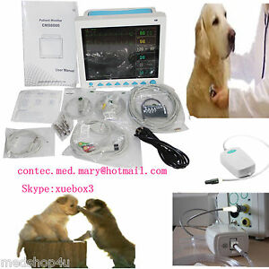 Portable Veterinary Icu Vital Sign Patient Monitor 6 Parameters cms8000vet etco2