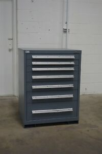 Used Rousseau 7 Drawer Cabinet 40 Inches Tall Industrial Storage 954 Vidmar