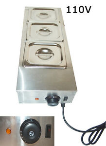 New 3 Pans 110v Chocolate Melting Pot Electric Water Heating Chocolatetempering