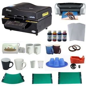 3d Sublimation Vacuum Heat Press Machine Mug Printer Ciss Paper Business Bundle