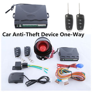 Car Anti Theft Alarm System With Central Door Keyless Entry Remote Trunk Release