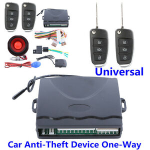 One Way Car Anti theft Device Centrol Door Keyless Entry Remote Alarm System Kit