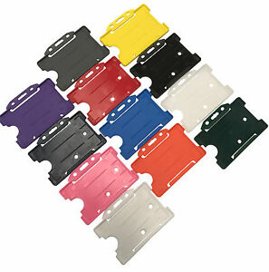 Id Card Holder Rigid Staff Work Pass Holder Choose Your Colour Free P p Lot
