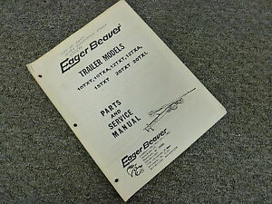 Eager Beaver 15txt 20txt 20txl Trailer Parts Catalog Shop Service Repair Manual