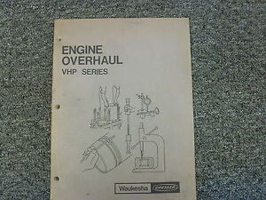 Waukesha F2895g F2895d F2896d F3335d F3521g Engine Overhaul Shop Service Manual