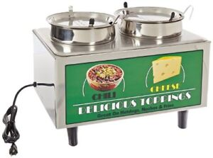 Bmrk 51072a chili Cheese Warmer 2 ladle lids