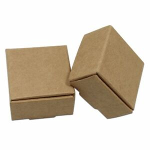 Various Sizes Brown Kraft Paper Foldable Box Recyclable Gift Wedding Party Pack