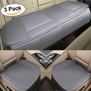 Car Front Rear Seat Cushions Covers Leather Breathable Mats Universal Auto Pads