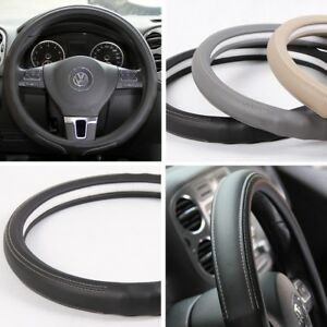 Circle Cool Acura Steering Wheel Overlay Cover Black Gray Beige Pvc Leather