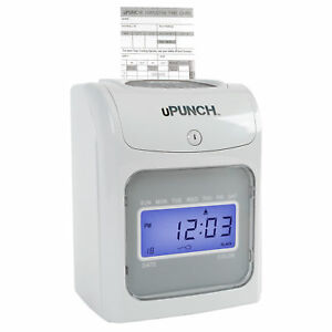 Upunch Hn2000 Electronic Calculating Punch Card Time Clock