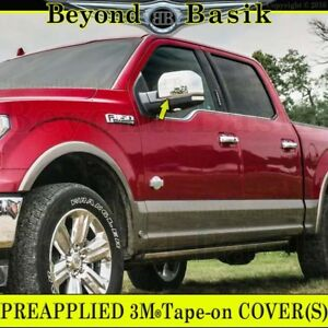 Chrome Mirror Covers Overlays Ford F150 2015 2016 2017 2018 2019 2020 Non Towing