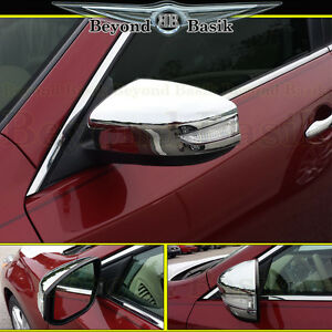 For 2013 2018 Nissan Altima Chrome Mirror Covers Overlay W Turn Signal Hole