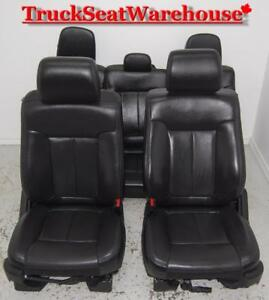 Ford F150 2014 Black Leather Power Heated Cooled Crew Cab Leather Seats
