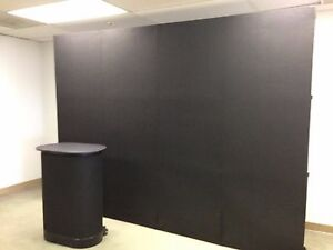 10 Pop Up Display With Velcro Fabric 2 Spotlights Portable Counter Black