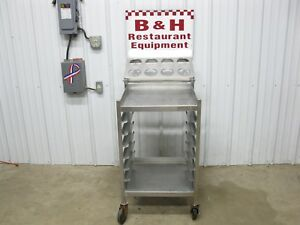 22 Stainless Steel Heavy Duty Table Dish Rack Cart W Silverware Caddy