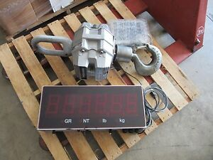 Trans weigh Cs Crane Scale Model 6260 Capacity 20 000 Lbs With Msi 9850 Vgc