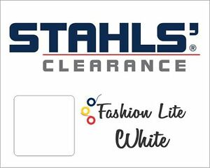 15 X 10 Yards Stahls Fashion lite Heat Transfer Vinyl Htv White