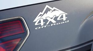 2 4x4 Off Road Mountain Decal Sticker Emblem Racing Truck Logo Fits Ford