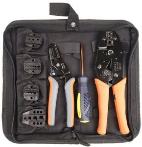 Crimping Tool Kits Wire Stripper Cable Cutters Suitable Iwiss Cables End Sleeves