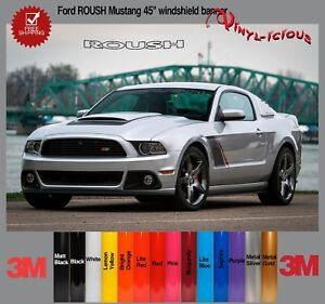 Ford Roush Mustang Windshield Logo Text Banner Vinyl Decal Sticker 3m 45
