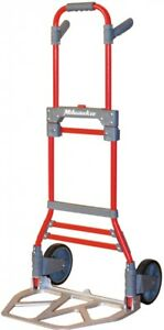 Milwaukee 300 lb Capacity Red Aluminum Folding Hand Truck Hand Cart Dolly New