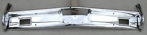 Lincoln New Triple Plated Chrome Front Impact Bumper 1962 1964 62 64 Oem