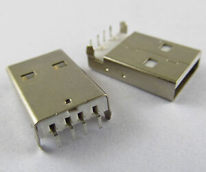 500pcs A Type Right Angle 90 Degreee Usb 4pin Male Socket Connector Pcb Socket