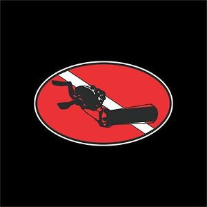 Cave Diver Electric Scooter Decal Sticker 200 13