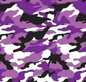Hydrographic Water Transfer Hydrodipping Film Hydro Dip Army Camo Purple 1sq