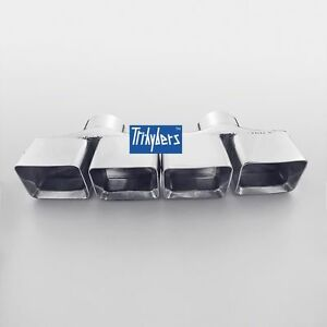 Tri hybers 3 Inlet Exhaust Tips Staggered Dual Twin Square Rectangle 6 5 Long