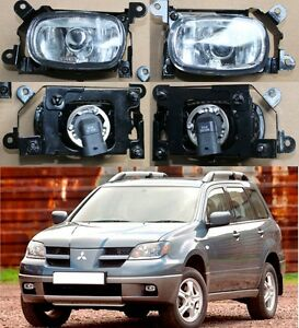 For Mitsubishi Outlander 2003 2006 Left Right Front Fog Lights Lamp Assembly
