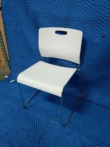 Guest Chair Side Chair Stackable White