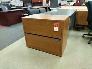 File Cabinet Medium Oak 2 Drawer