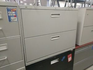 Hon Lateral File Cabinet 2 Drawer Taupe Light Grey