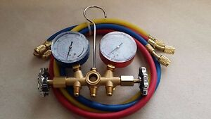 R410a R22 R134a Hvac A c Refrigeration Manifold Gauge Set 3 3ft Hoses